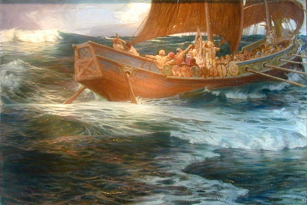 Wrath of the Sea God :: Herbert James Draper - mythology and poetry фото