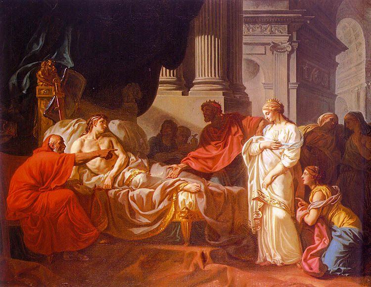 Antiochus and Stratonice :: Jacques-Louis David - mythology and poetry ôîòî