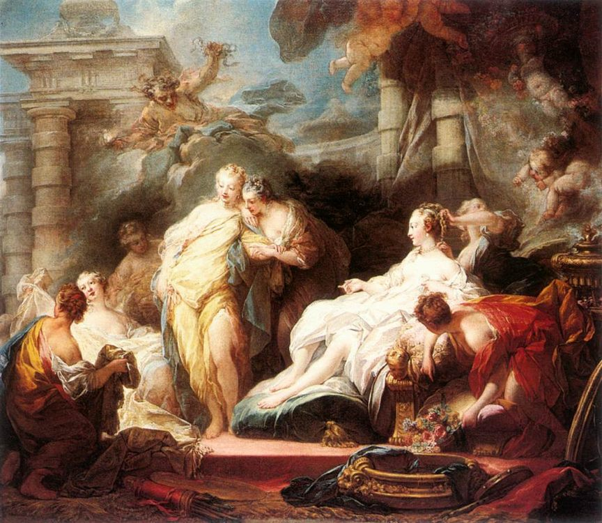 Psyche showing her Sisters her Gifts from Cupid :: Jean-Honore Fragonard - mythology and poetry фото
