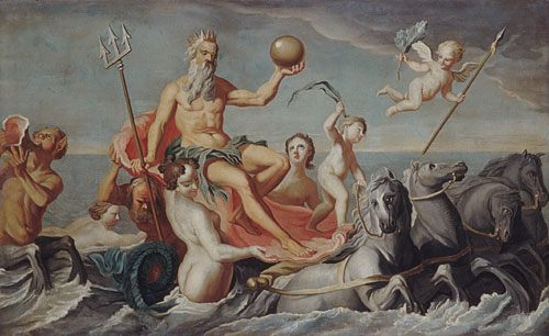 The Return of Neptune :: John Singleton Copley - mythology and poetry ôîòî