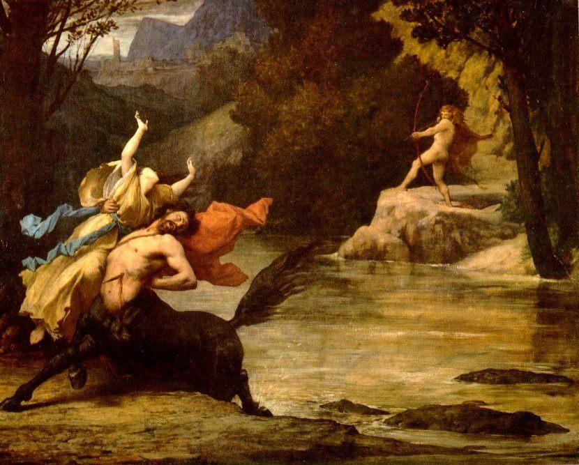Abduction :: Jules-Elie Delauney  - mythology and poetry фото