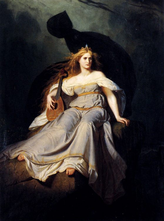 The Muse Of Music :: Karl Ludwig Adolf Ehrhardt - Allegory in art and painting фото