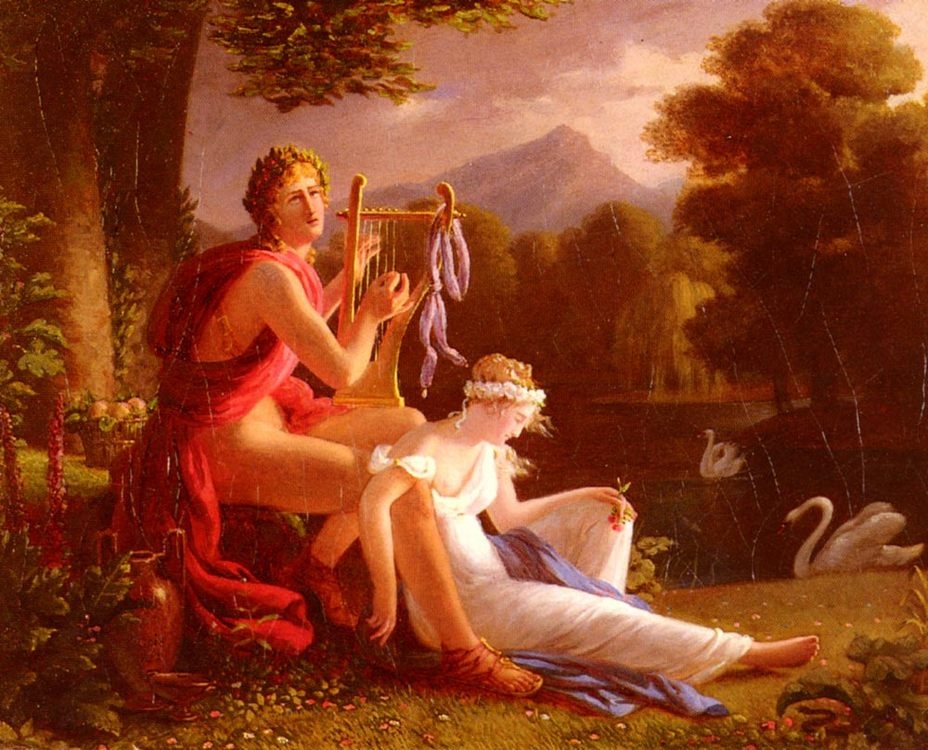 Orpheus and Euridice :: Louis Ducis - mythology and poetry фото