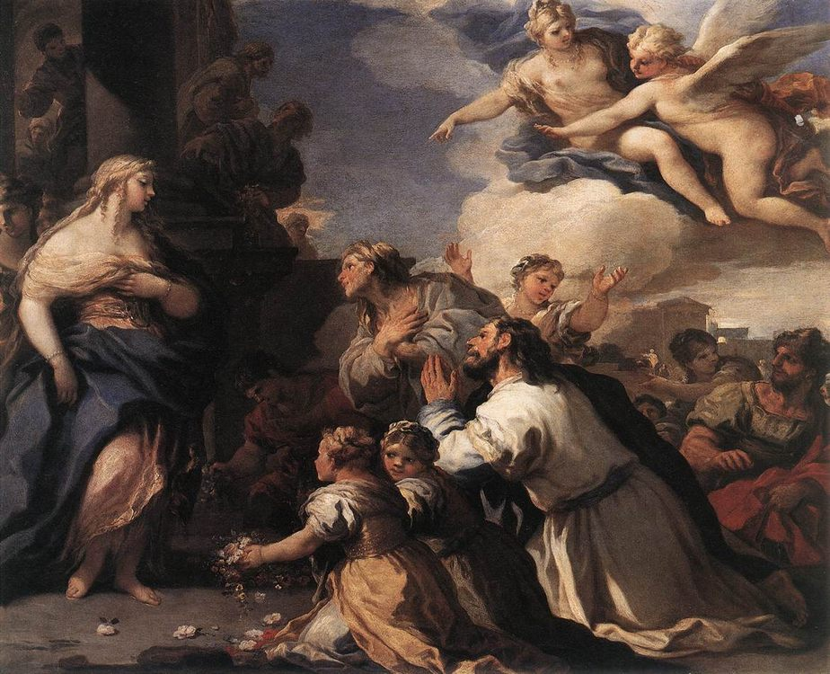 Psyche Honoured by the People :: Luca Giordano - mythology and poetry фото