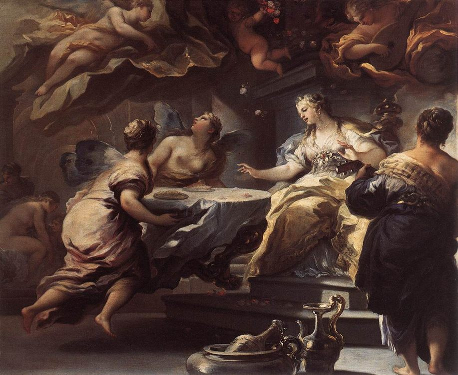 Psyche Served by Invisible Spirits :: Luca Giordano - mythology and poetry фото