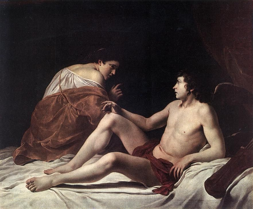 Cupid and Psyche :: Orazio Gentleschi - mythology and poetry фото