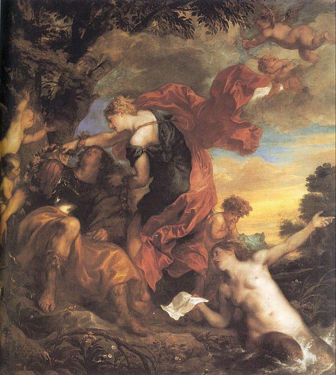 Rinaldo and Armida :: Sir Antony van Dyck - mythology and poetry фото