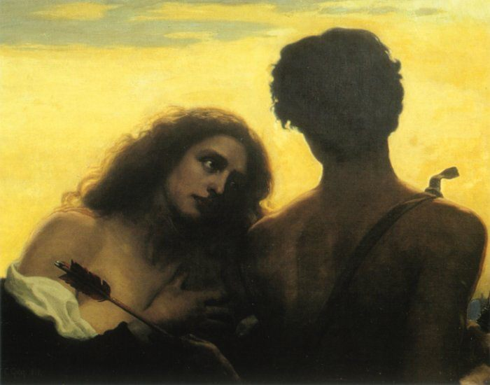 Holy love :: Thomas Cooper Gotch - Romantic scenes in art and painting фото