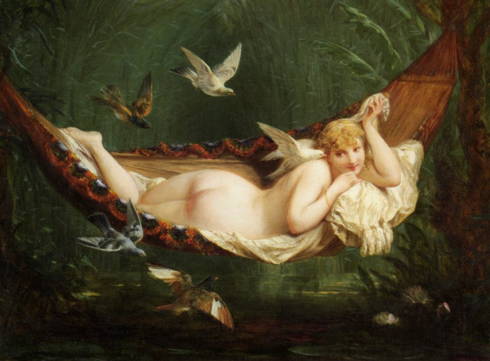 The Hammock :: Henri Pierre Picou - Nu in art and painting ôîòî