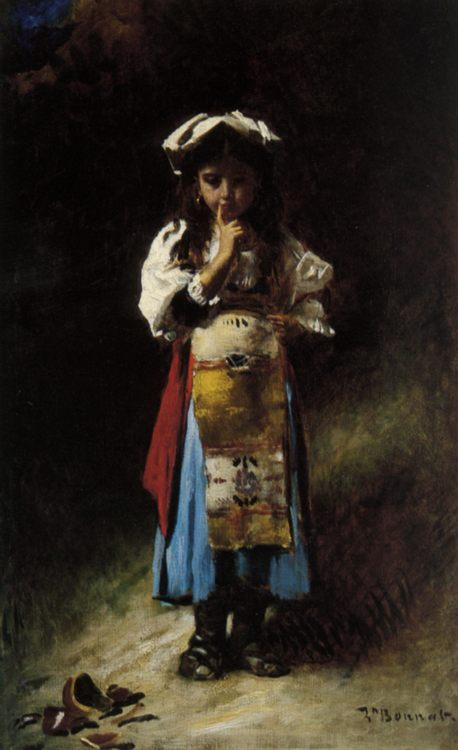 The Broken Jug :: Leon Bonnat - Portraits of young girls in art and painting фото