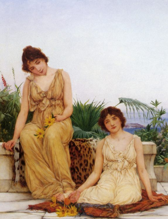 Ancient Pastimes :: Oliver Rhys - Antique beauties in art and painting фото
