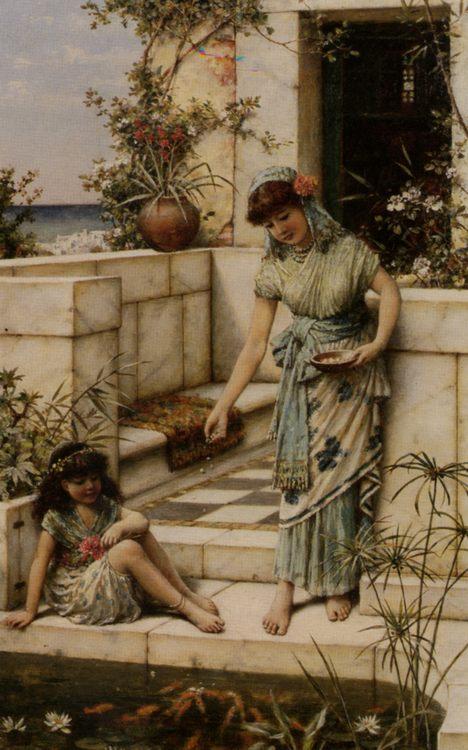 Feeding The Goldfish :: William Stephen Coleman - Antique world scenes ôîòî
