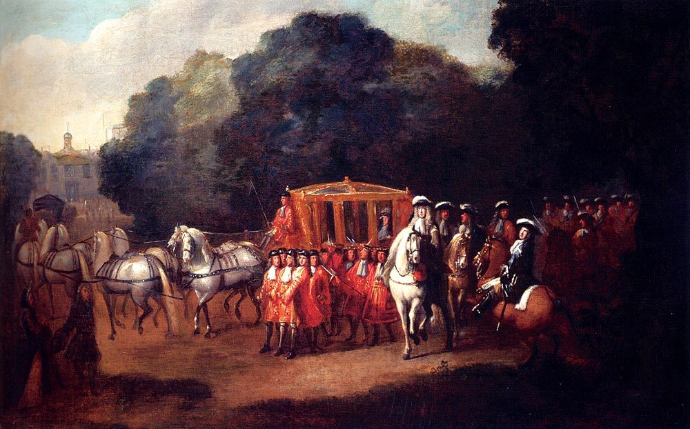 William III s Procession To The Houses Of Parliament  :: Alexander Van Gaelen  - History painting фото