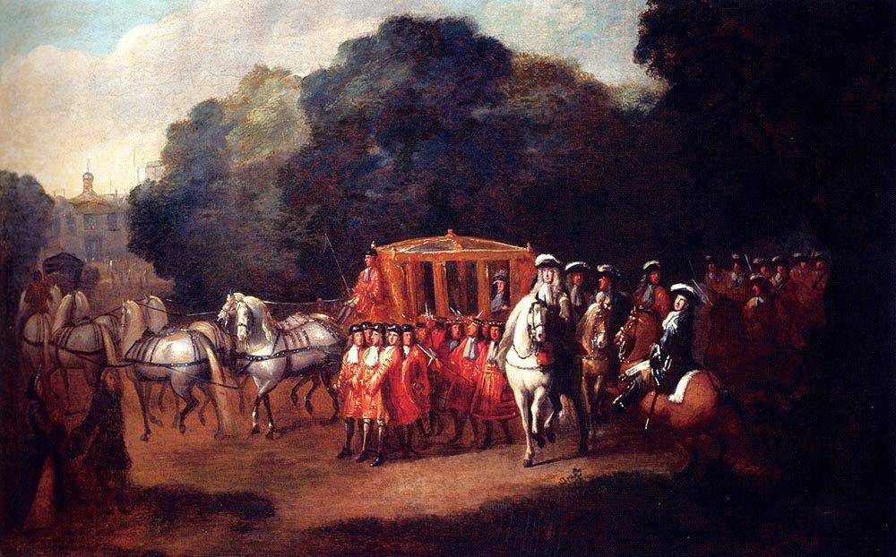 William III s Procession To The Houses Of Parliament  :: Alexander Van Gaelen  - History painting ôîòî