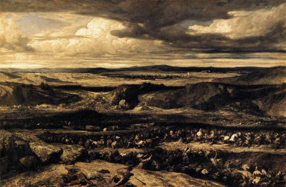 The Defeat of the Cimbri :: Alexandre-Gabriel Decamps - History painting фото
