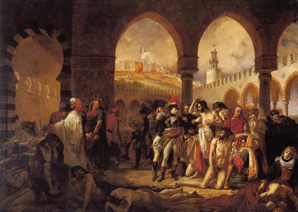 Bonaparte Visiting the Pesthouse in Jaffa, March 11, 1799 :: Antoine-Jean Gros - History painting фото