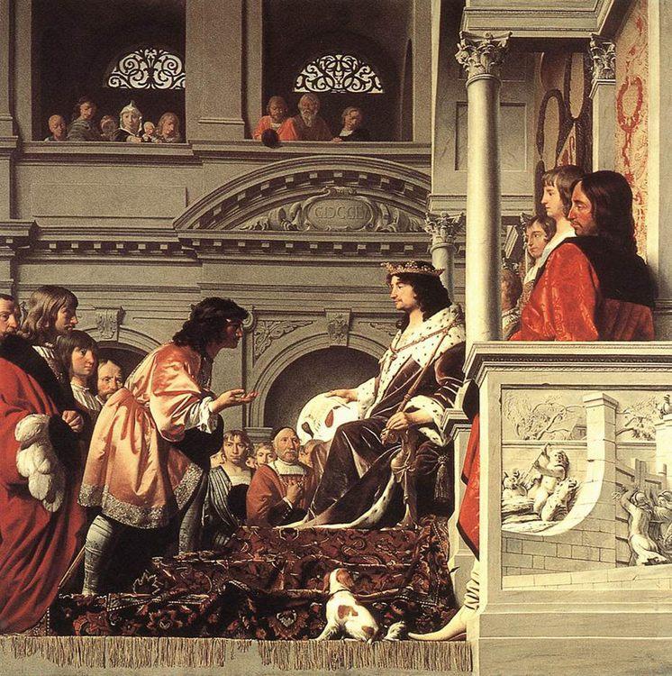 Count Willem II of Holland Granting Privileges :: Caesar van Everdingen  - History painting ôîòî