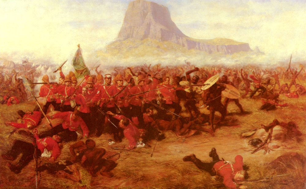 The Battle Of Islandhlwana :: Charles Edwin Fripp - History painting фото