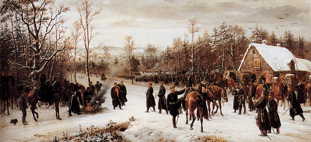 Arrival of The prince Friedrich Karl Auf to The battlefield of Vionville :: Conrad Freyberg - History painting фото
