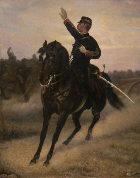 Cavalry Commander :: David Eugene Girin - History painting фото
