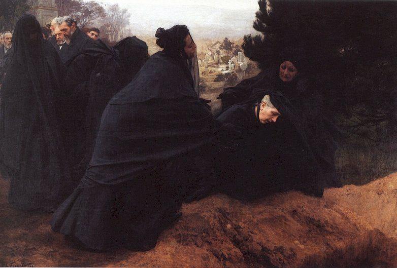 Sorrow :: Emile Friant  - History painting фото
