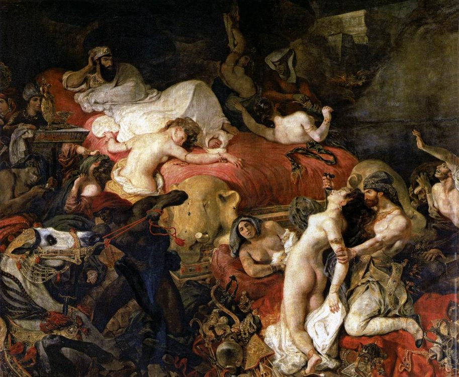 The Death of Sardanapalus :: Eugene Delacroix - Antique world scenes фото