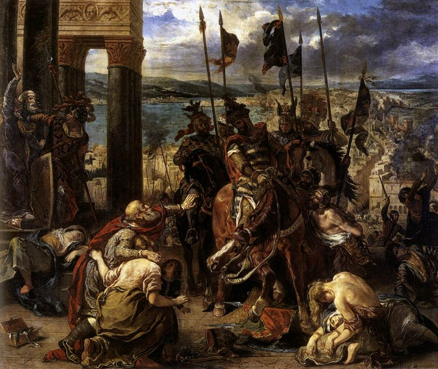 The Entry of the Crusaders into Constantinople :: Eugиne Delacroix - History painting фото