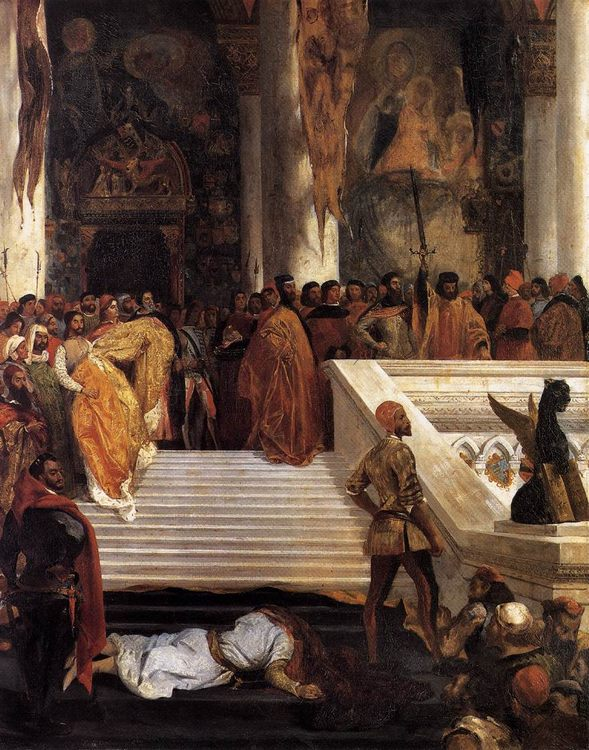 The Execution of Doge Marino Faliero :: Eugиne Delacroix - History painting фото