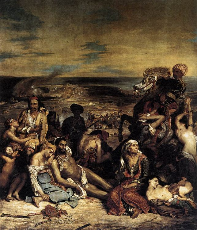 The Massacre at Chios :: Eugиne Delacroix - History painting фото