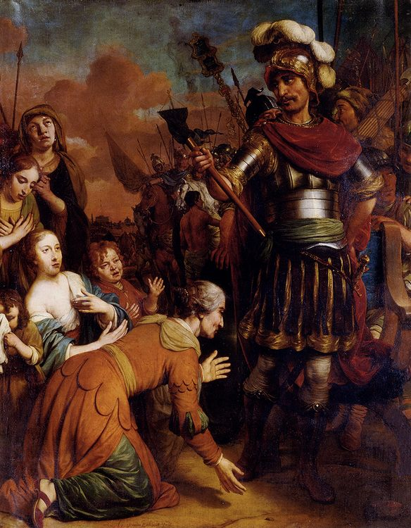 Volumnia Pleading With Her Son Coriolanus To Spare Rome :: Gerbrand van den Eeckhout - History painting фото