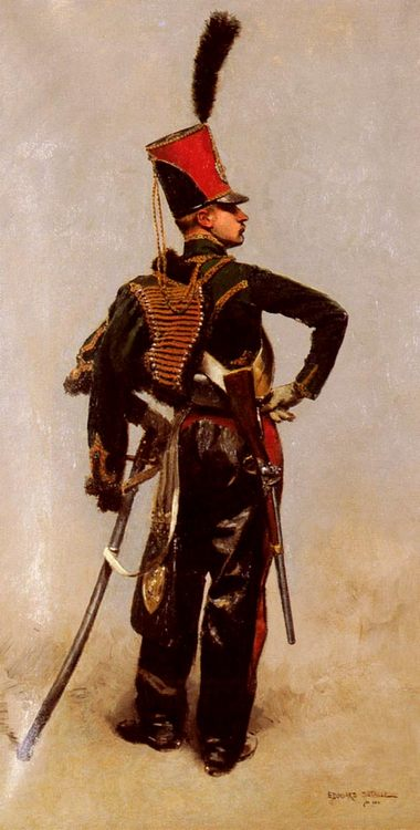 A Rank Soldier of the 7th Hussar Regiment :: Jean Baptiste Edouard Detaille - History painting фото