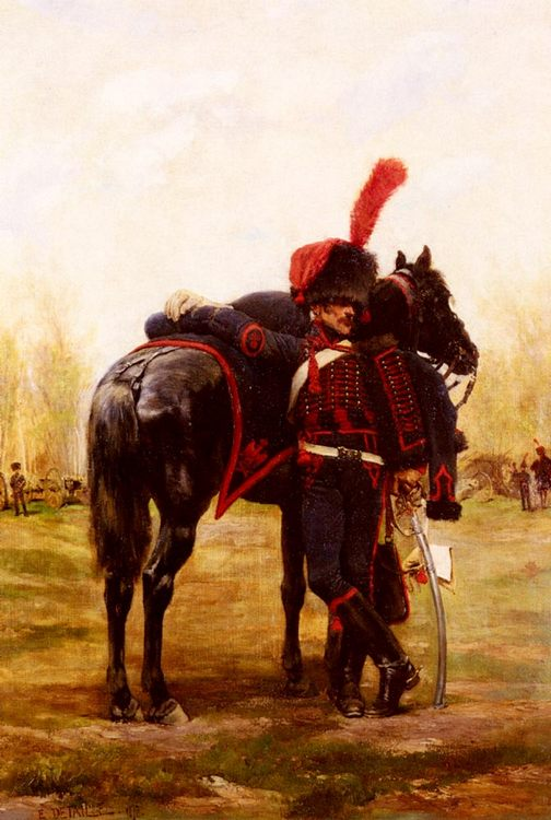 Mounted Artillery of the Imperial Guard :: Jean Baptiste Edouard Detaille - History painting фото