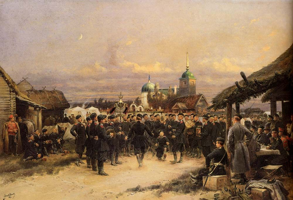Chorus Of The Fourth Infantry Battalion At Tsarskoe Selo :: Jean Baptiste Edouard Detaille - History painting фото