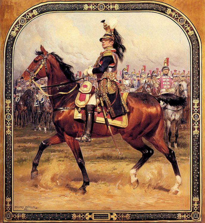 The general d ' Hautpoul caracoles on a horse :: Jean Baptiste Edouard Detaille - History painting ôîòî