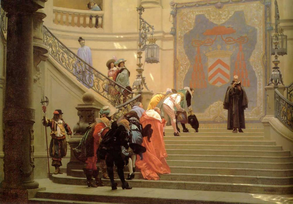 The Grey Cardinal :: Jean-Leon Gerome - History painting фото