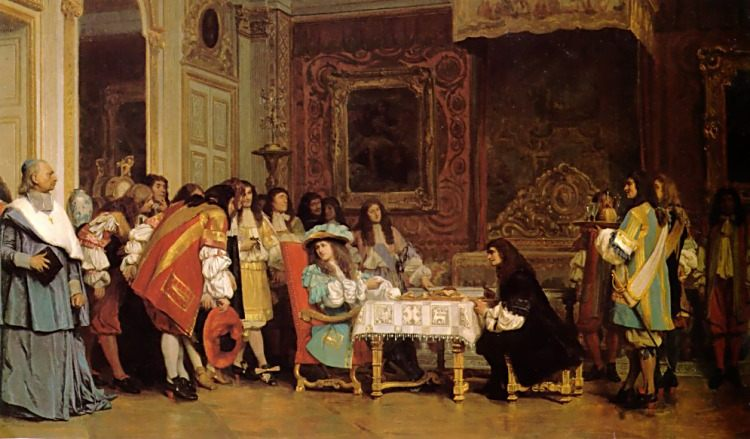Louis XIV and Moliere :: Jean-Leon Gerome - History painting фото