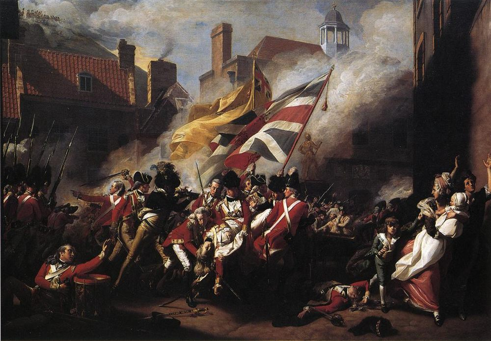 The Death of Major Pierson :: John Singleton Copley - History painting фото