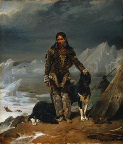 A Woman from the Land of Eskimos :: Lion Cogniet - History painting фото