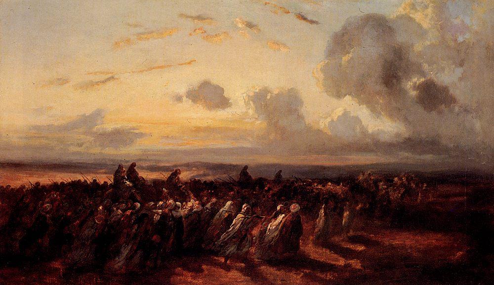 Turkish offensive :: Narcisse-Virgile Diaz de la Pea - History painting фото