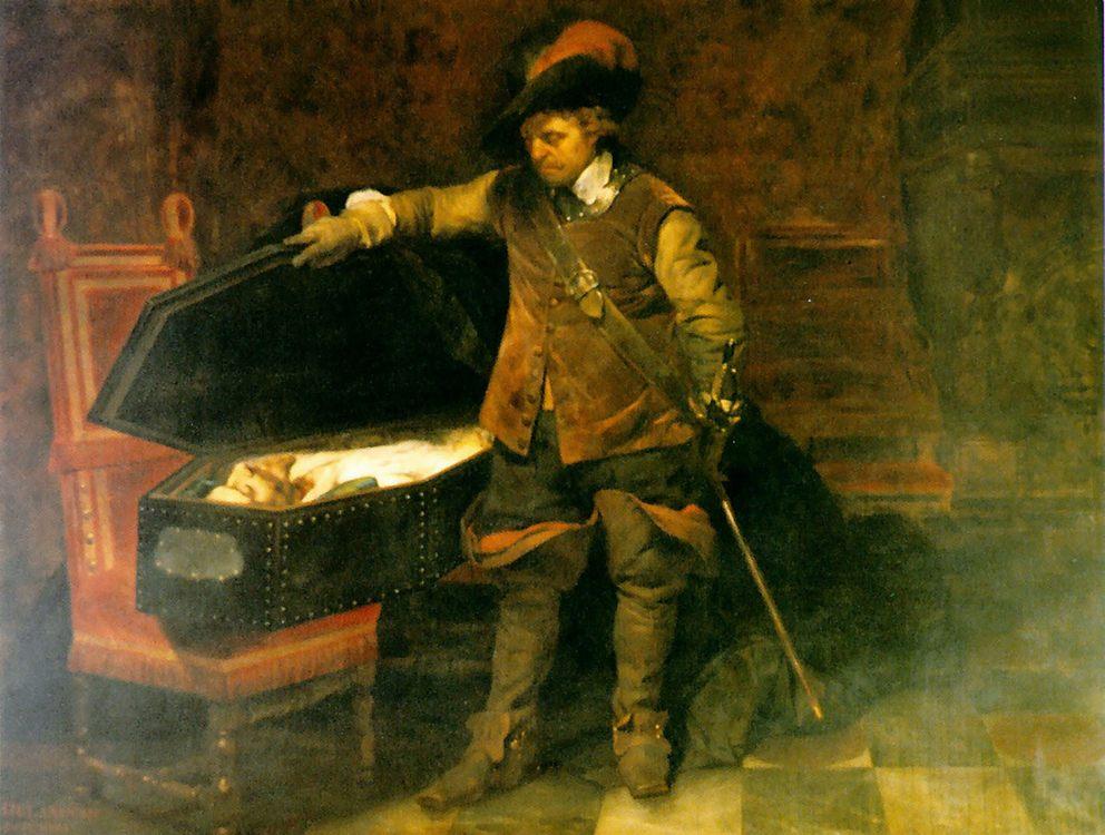 Cromwell and Charles I :: Paul Delaroche - History painting ôîòî