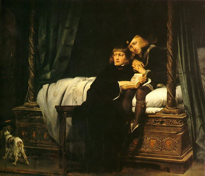 The children of King Edward imprisoned in the Tower :: Paul Delaroche - History painting фото