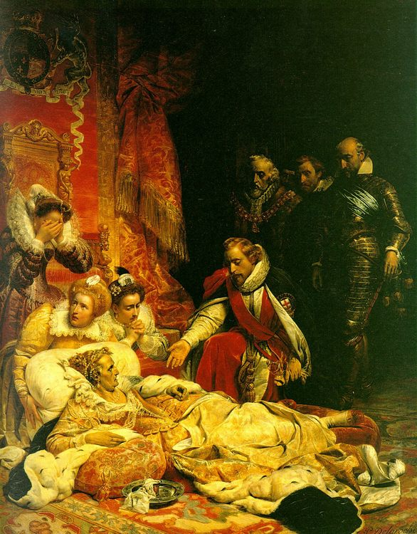 The Death of Elizabeth :: Paul Delaroche - History painting фото