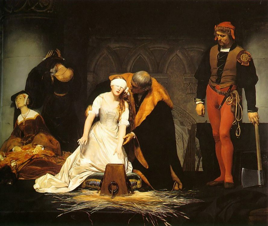 The Execution of Lady Jane Grey :: Paul Delaroche - History painting фото