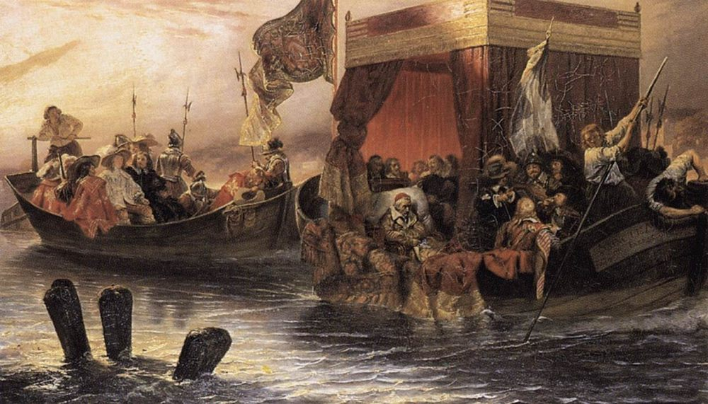 The State Barge of Cardinal Richelieu on the Rhone :: Paul Delaroche - History painting фото