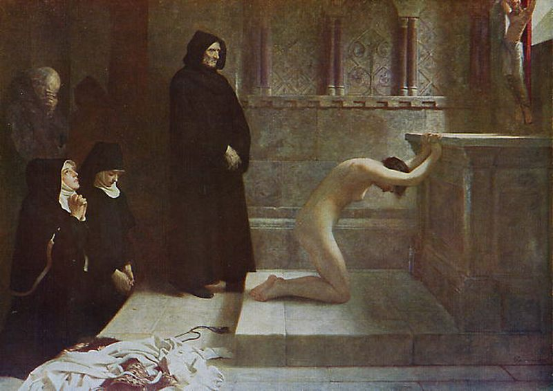 St Elizabeth of Hungarys Great Act of Renunciation :: Philip Hermogenes Calderon - History painting фото