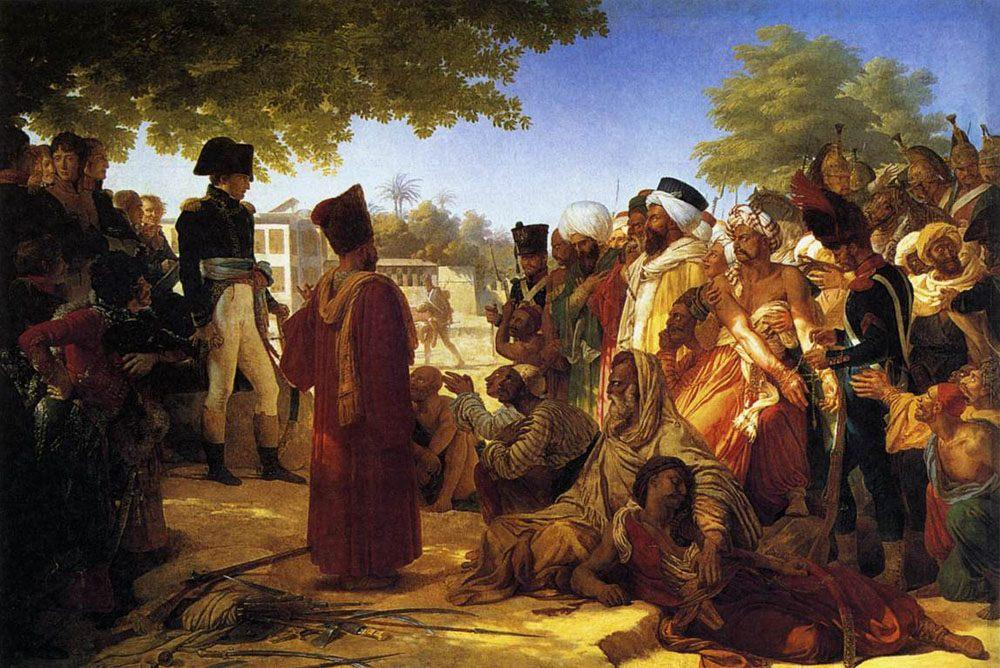 Napoleon Pardoning the Rebels at Cairo :: Pierre-Narcisse Guerin - History painting ôîòî