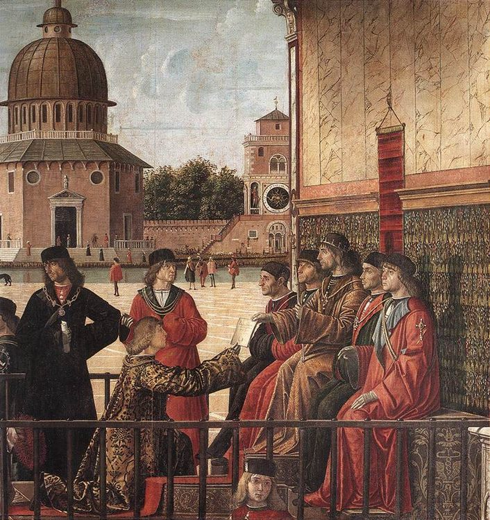 Arrival of the English Ambassadors [detail- 2] :: Vittore Carpaccio - History painting фото