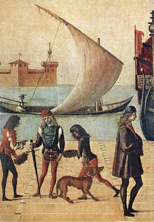 Arrival of the English Ambassadors [detail- 4]  :: Vittore Carpaccio - History painting фото