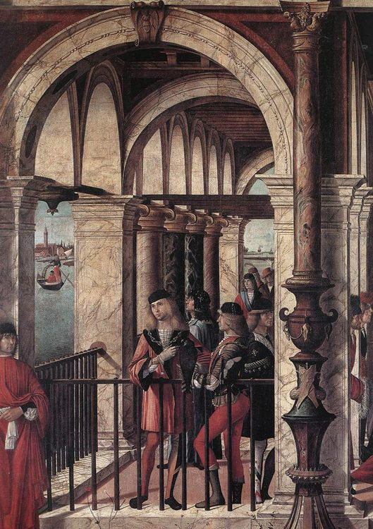 Arrival of the English Ambassadors [detail- 5] :: Vittore Carpaccio - History painting фото