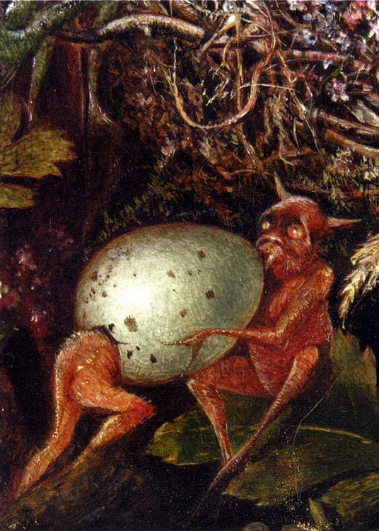 Fairies In A Bird s Nest (detail 2) :: John Anster Fitzgerald - Fantasy in art and painting фото
